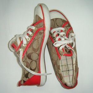 Coach Signature Barrett Sneakers Ladies Size 6 1/2